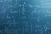 Maths formulas on chalkboard — Stock Photo
