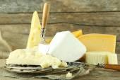Tipo diferente de queijo — Fotografia Stock