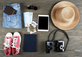 Set of travel things — Stock Photo