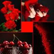 ������, ������: Red color images in collage