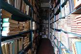 Muchos libros en la estantería en la biblioteca — Foto de Stock