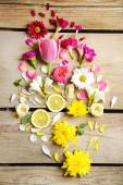 Abstract background with beautiful flowers — Stock Photo