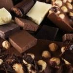 Set of chocolate with hazelnut, closeup — Stock Photo #71540035