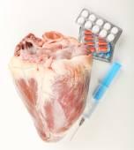 Raw animal heart — Stock Photo
