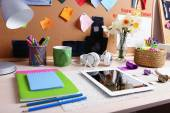 Working place at home, close-up — Stock Photo