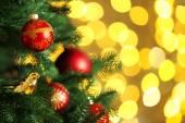 Vyzdobený vánoční strom — Stock fotografie