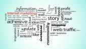 Wort-Wolke. Internet-marketing-Konzept — Stockfoto