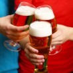 Beer in female hands, closeup — Stock Photo #71811175