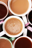 Cups of cappuccino, closeup — Stock Photo