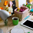 Working place at home, close-up — Stock Photo #71951731
