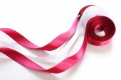 Colorful vinous and white ribbons — Stock Photo
