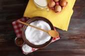 Whipped egg whites — Stock Photo