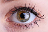 Human eye close up — Stock Photo