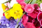 Beautiful bouquet of bright flowers close up — Stock Photo
