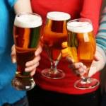Beer in female hands — Stock Photo #72712297
