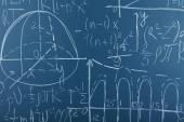 Maths formulas on chalkboard background — Stock Photo