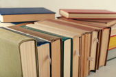 Stack of books close up — Stock Photo