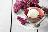 Composition with tasty ice cream — Stock Photo