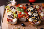 Different sandwiches with vegetables — Foto Stock