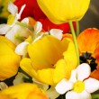 Beautiful bouquet of tulips and narcissus — Stock Photo #72766065
