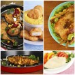 Collage of various meals with meat — Stock Photo #72779005