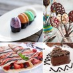 Delicious desserts collage — Stock Photo #72779053