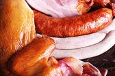 Assortment of deli meats, macro view — Stock Photo