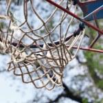 Basketball hoop close up — Stock Photo #72911517