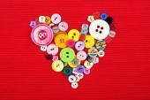縫製ボタン心šití tlačítka srdce — ストック写真