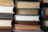Stack of books background — Stock Photo