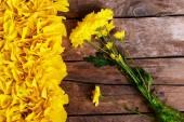 Yellow flowers in vase — Stock Photo