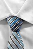 Man white shire and tie — Stock Photo