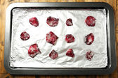 Candied rose flower petals — Stock Photo