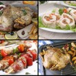 Collage of various meals with meat — Stock Photo #73013275