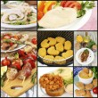 Collage of various meals with meat — Stock Photo #73013293