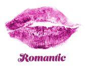 Lipstick kiss isolated on white — ストック写真