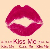 Lipstick kiss closeup — ストック写真