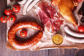 Assortment of deli meats — Stock Photo