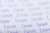 Words LOVE written — Stock Photo