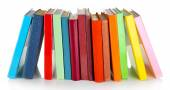 Colorful rainbow books — Stock Photo