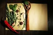 Open recipe book — Stock Photo