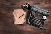 Old retro typewriter — Stock Photo