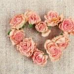 Heart of beautiful dry flowers — Stock Photo #73832183