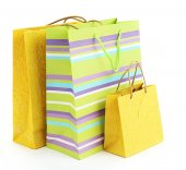 Colorful shopping paper bags — Stock Photo