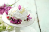 Beautiful composition with tasty ice cream — Stock Photo