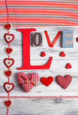 Beautiful romantic background on Valentines Day close-up — Stock Photo