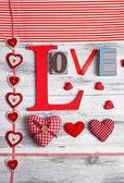 Vackra romantiska bakgrunden på alla hjärtans dag närbild — Stockfoto