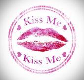 Stamp of lipstick kiss, closeup — Stock Photo