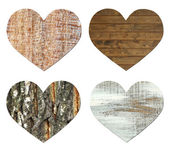 Vintage wooden hearts — Stock Photo