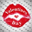 Lipstick kiss closeup. Love, Valentine's Day concepts. — Stock Photo #75130315